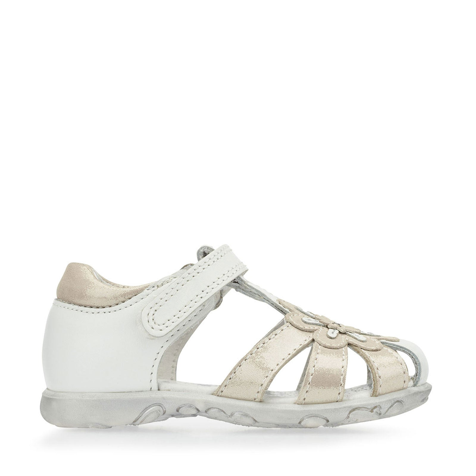 19cce2cb6694d NEW Start Rite Primrose White and Silver Sandals - Geoffrey and Joy