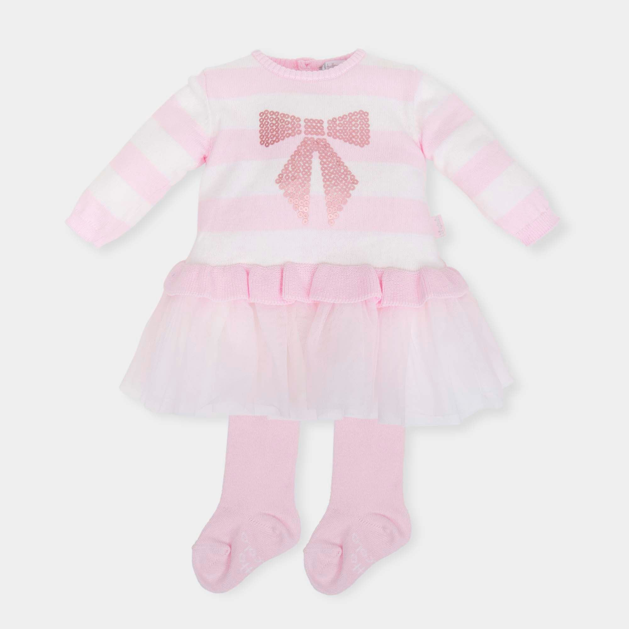d0ada77b2d2 Tutto Piccolo 5220W18 P00 Pink Dress And Tights - Geoffrey and Joy