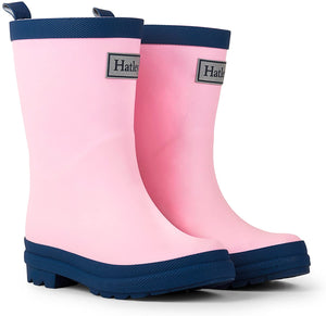 Hatley Pink and Navy Splash Boots AW20