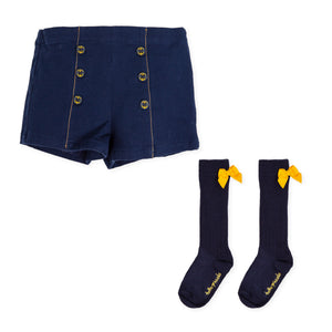 Tutto Piccolo 7331W19 Top and Bermuda Shorts Set AW19