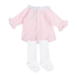 Tutto Piccolo 7782W19 Pink Dress and Tights AW19