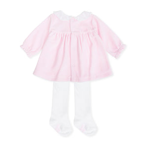 Tutto Piccolo 7785W19 Pink Dress and Tights