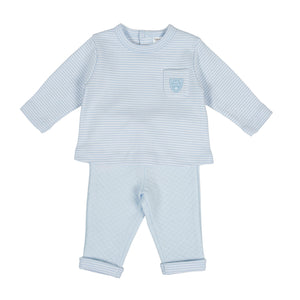 Tutto Piccolo soft cotton outfit -  sky blue 9585W20 AW20