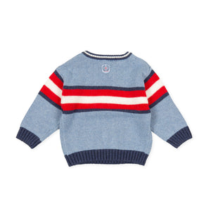 Tutto Piccolo Stripe Knit Jumper 9710W20/B07 AW20