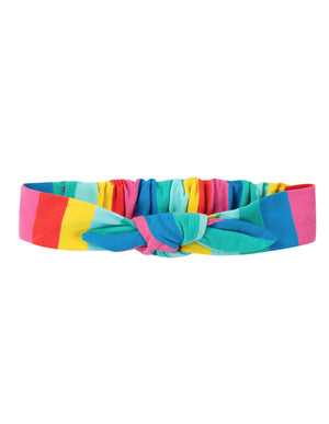 Frugi Astrid Headband Flamingo Multi Stripe SS20