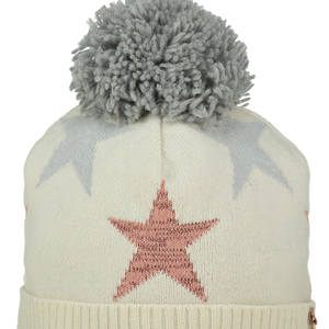 A dee Ainsley star Hat with Grey bobble