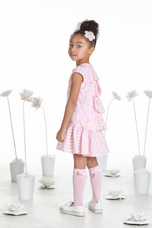 NEW A Dee Dawn Pink Fairy gingham Frill Dress