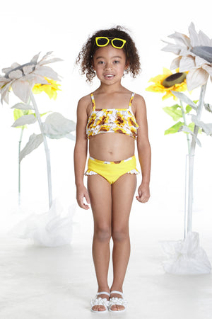 NEW A Dee Bobbie S192802 Sunflower Yellow Sunflower Tankini
