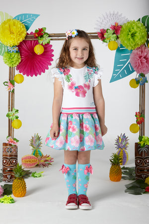A Dee S204914 Dunn Hawaiian Knee High Socks SS20