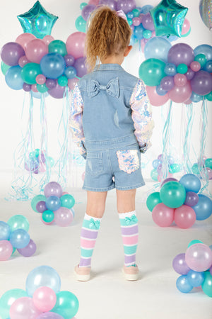 A Dee S203205 Caitlin Sequin Denim Jacket SS20
