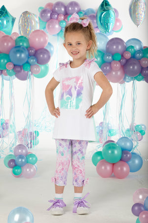 A Dee S203509 Coryn Mermaid Print Legging Set SS20