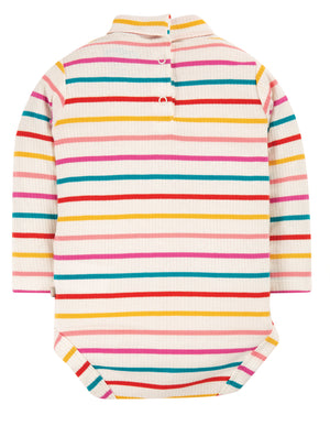 Frugi Roll Neck Body, Ginger Rainbow Breton