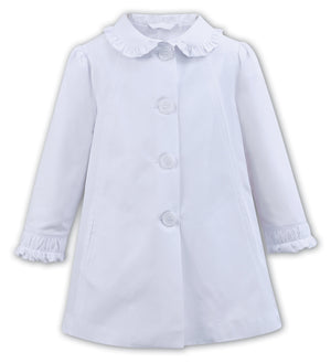 Dani White Three Quarter Coat