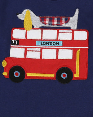 Lilly and Sid Applique Bus Check Set