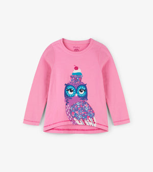 Hatley Cupcake Owl Long Sleeve Tee and Legging Set
