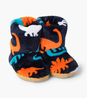 Hatley Silhouette Dinos Fleece Slippers AW20