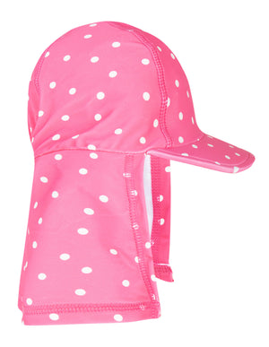 Frugi Little Swim Legionnaires Hat Flamingo/Spot SS20