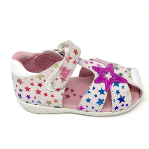 Agatha multicoloured star closed toe sandal