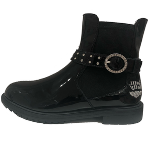 NEW Lelli kelly Anna Black Patent Ankle Boot