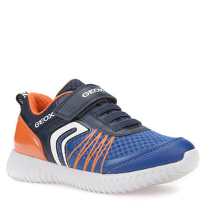 Geox J Waviness Boy Navy Orange