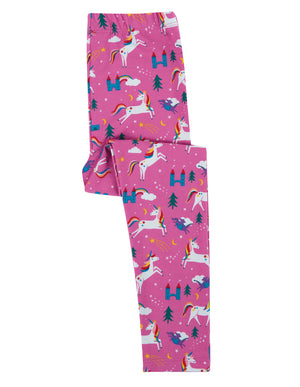 Frugi Libby Printed Leggings, Unicorns