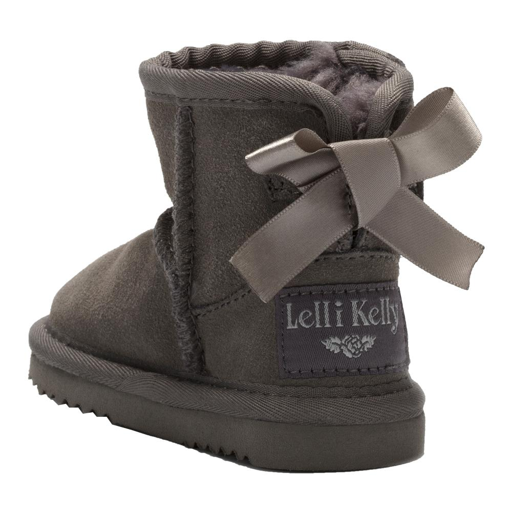 "LK3676 Lelli Kelly ""Agathe"" Infant Girls Winter Boots In Dark Grey"