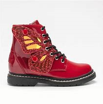 Lelli Kelly LK6540 Rosso Red Fairy Wings Patent Ankle Boot