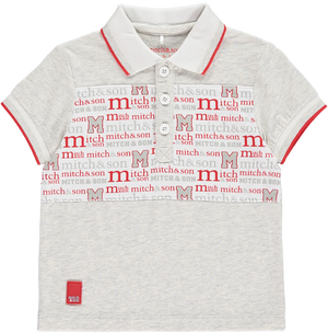 Mitch And Son MS1116 Patrick Panelled Mitch Print Polo Top