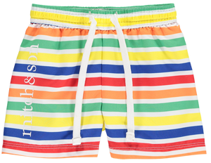 NEW Mitch And Son MS1146 Thorpe Stripe Swim Shorts