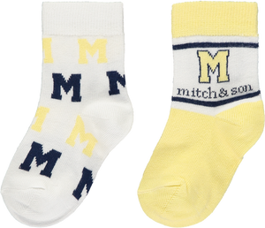 Mitch and Son MS1332 Issac 2 Pack of Socks SS20