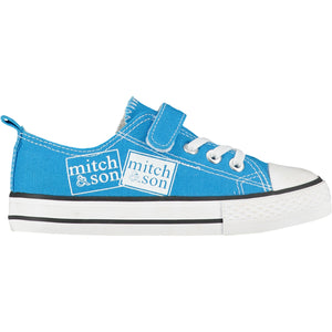 Mitch & Son Stamp Blue Canvas Logo Trainer SS21