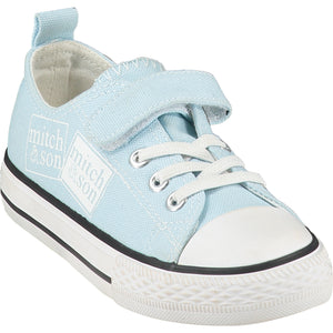 Mitch & Son Stamp Pale Blue Canvas Logo Trainer SS21