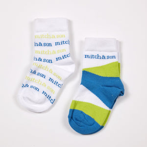 Mitch & Son Sam Lime Blue Sock