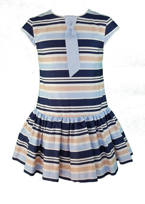 Daga Navy Stripe Tie Dress