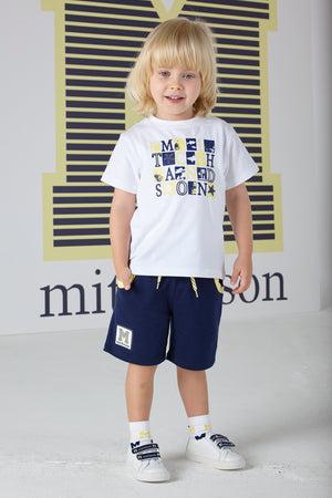 Mitch and Son MS1328 Dylan Navy Sweat Short SS20