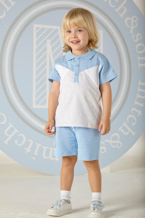 Mitch and Son Robbie Polo Shirt and Shorts Set SS20