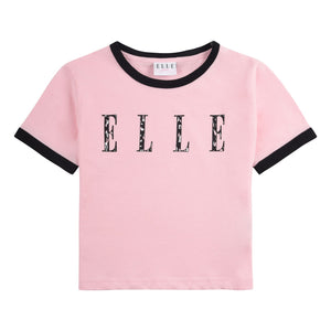 Elle Cheetah Logo Tee Orchid Pink SS21