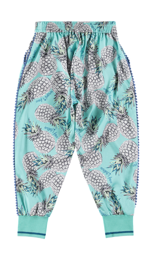 NEW Pippa Pineapple Hareem Pants Aqua