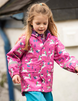 Frugi Puddle Buster Coat Unicorn Puddles AW20