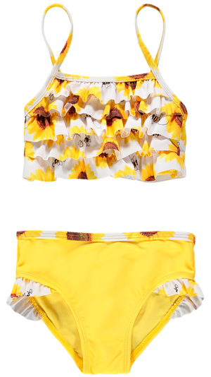 A Dee Bobbie S192802 Sunflower Yellow Sunflower Tankini