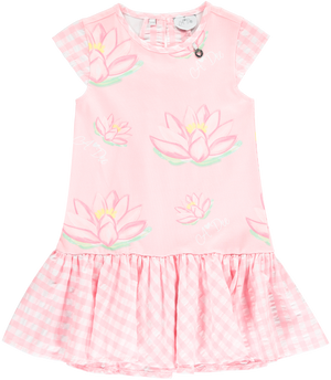 A Dee Dawn Pink Fairy gingham Frill Dress