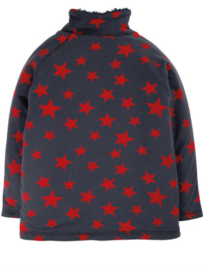 Frugi Snuggle Fleece Indigo Scattered Stars AW20