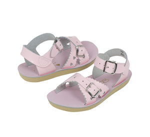 Saltwater Sweetheart Shiny Pink Sandals