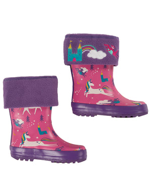 Frugi Warm Up Welly Liner Thistle/Dragon AW20