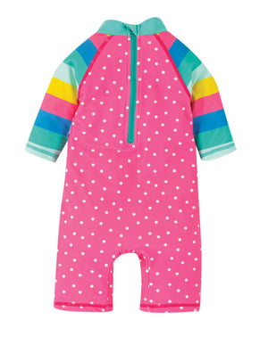 Frugi Little Sunsafe Suit Flamingo Spot/Fish SS20