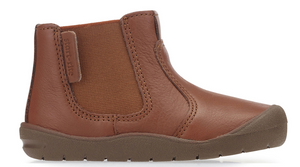 NEW Start Rite First Chelsea Boot Tan Leather