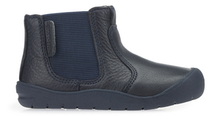 NEW Start Rite First Chelsea Boot Navy Leather