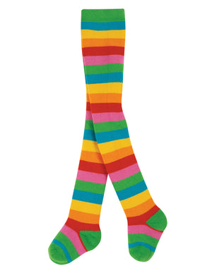 Frugi Toasty Tights -  Rainbow Multi Stripe