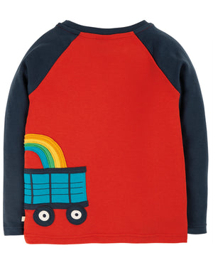 Frugi Albert Applique Top Ginger/Tractor AW20