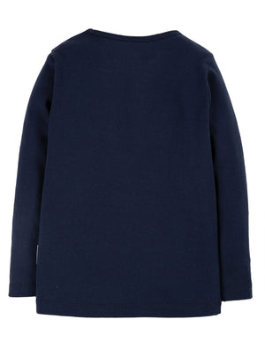 Frugi Everyday Long Sleeve Tee, Indigo